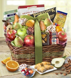With Remembrance Kosher Fruit & Sweets Basket