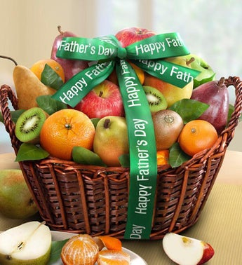 Happy Fathers Day Premium Fruits Gift Basket