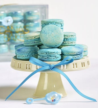 Danas Bakery Baby Boy Blue Macarons -12 pc box
