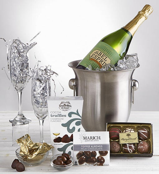 Celebrate! Sparkling Wine Chiller Gift with Flutes