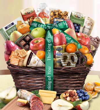 Thinking Of You Fruit  Sweets Gift Basket