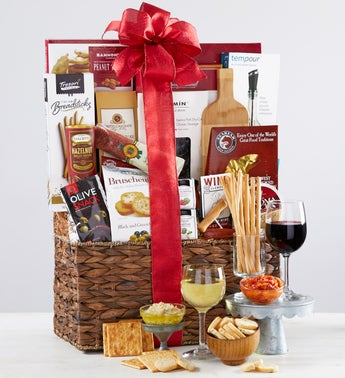 Classy Wine Lovers Gift Basket