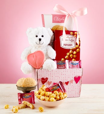 My Valentine Bear  Sweets Basket