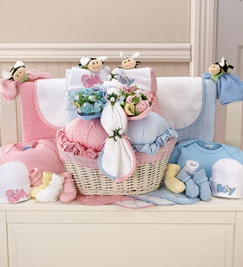 Twice The Fun Twin Newborn Gift Basket
