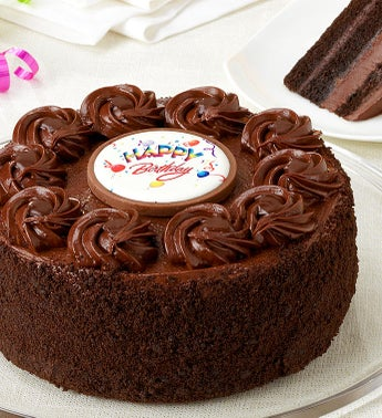Juniors Happy Birthday Chocolate Fudge Cake