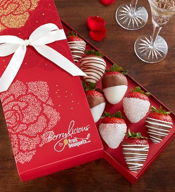 Chocolate Covered Strawberries in Rose Box