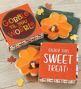 Gobble Till You Wobble Cookie Card