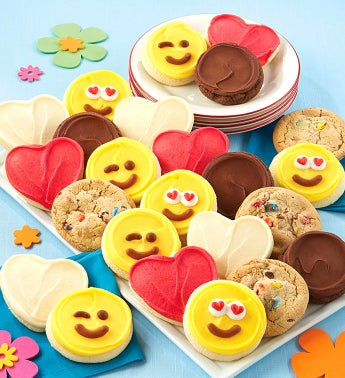 Buttercream Frosted Love Cut-out Cookie Assortment