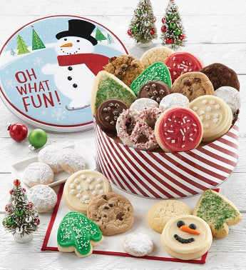 Snowman Gift Tin - Holiday Treats