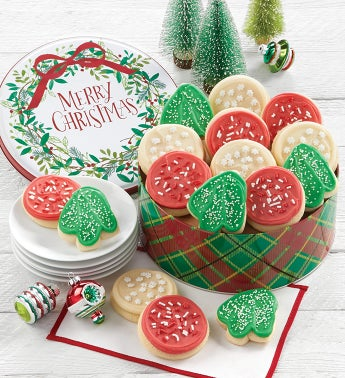 Merry Christmas Gift Tin - Cut-out Assortment