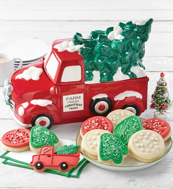 Collectors Edition Christmas Tree Farm Cookie Jar