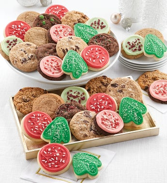 Bow Gift Box  24 Classic Holiday Cookies