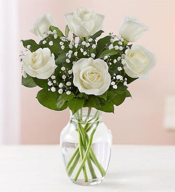 Loves Embrace White Roses