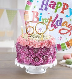 Birthday Wishes Flower Cake™ Pastel – Milestone
