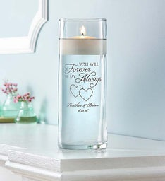 Personalized Forever and Always Floating Candle