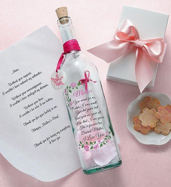 Personalized Message In A Bottle  Mothers Day