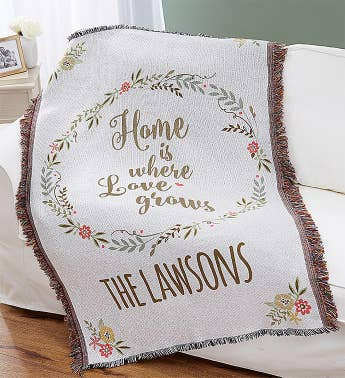 Personalized Family Throw Blanket