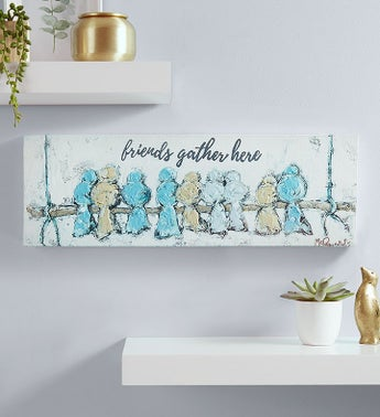 Friends Gather Here Canvas Wall Art