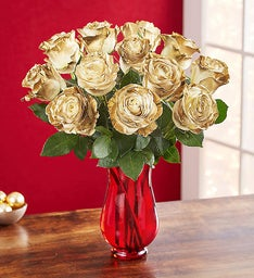 Dazzling Golden Air Brushed Roses