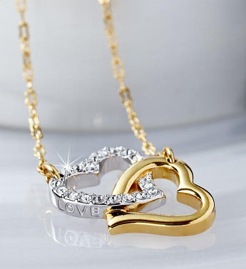 Swarovski Match Double Heart Necklace