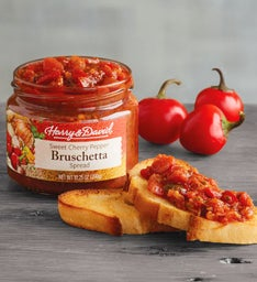 Sweet Cherry Pepper Bruschetta