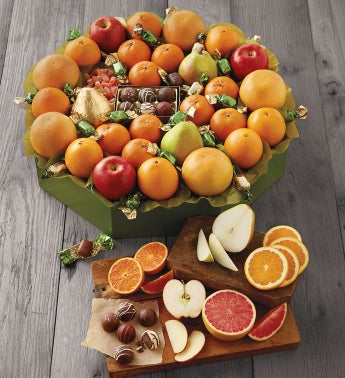 Grand Holiday Fruit Wreath