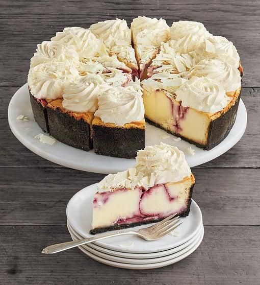 """The Cheesecake Factory® White Chocolate Raspberry Truffle® Cheesecake - 10"""""""