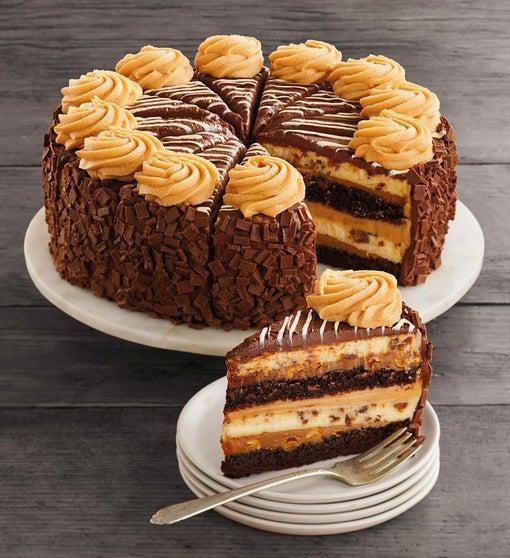 "The Cheesecake Factory® REESE'S® PB Chocolate Cake Cheesecake - 10"""