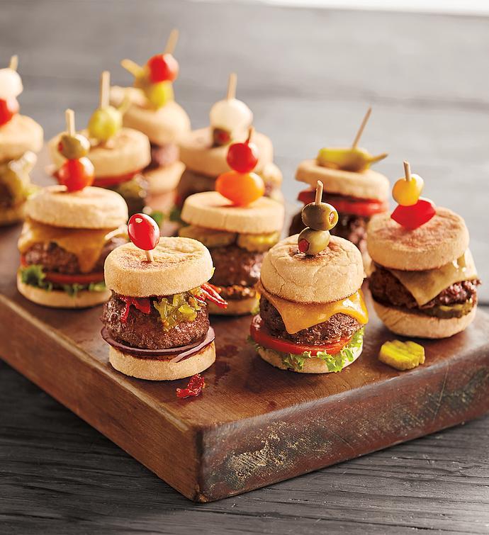 Stock Yards Mini Steak Burgers and Mini English Muffins