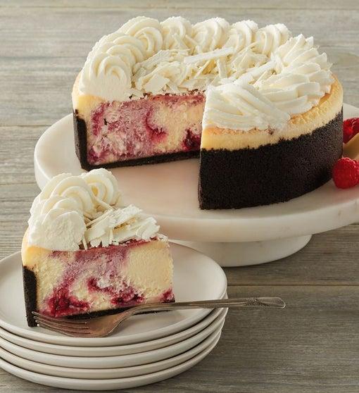"""The Cheesecake Factory® White Chocolate Raspberry Truffle® Cheesecake - 7"""""""