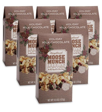 Moose Munch174 Holiday Milk Chocolate Premium Popcorn 8211 6 Pack