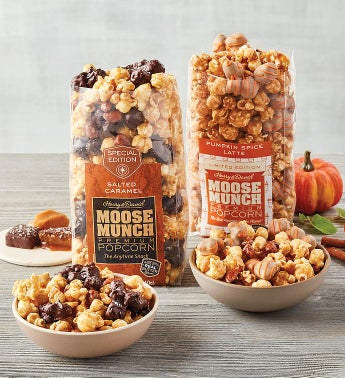 Moose Munch174 Premium Popcorn Duo - Salted Caramel and Pumpkin Spice Latte Mix
