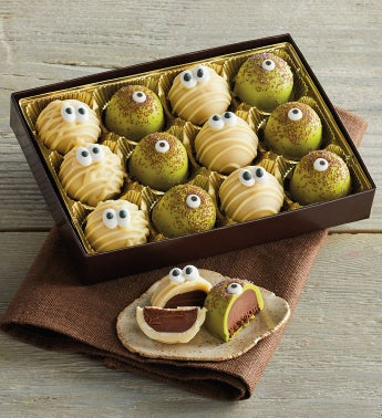 Monster and Mummy Halloween Truffles