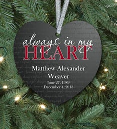 Always In My Heart Ornament