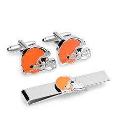 Cleveland Browns Cufflinks and Tie Bar Gift Set