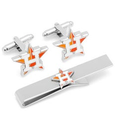 Houston Astros Cufflinks and Tie Bar Gift Set
