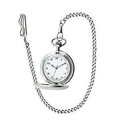 Personalized Pocket Watch with Chain