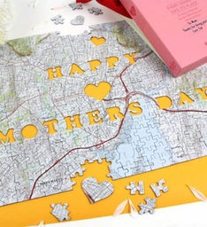 Personalized Mothers Day USGS Map Puzzle