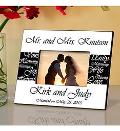 Mr and Mrs Personalized Wedding Frame