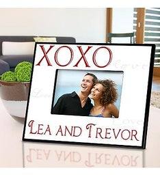Personalized Hugs and Kisses Picture Frame