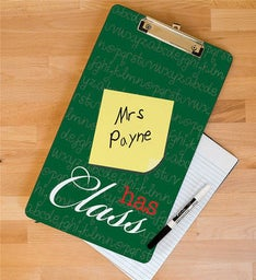 Teachers Class Personalized Clipboard