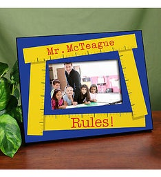 Personalized My Teacher Rules Picture Frame