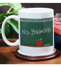Chalkboard Teacher Personalized Coffee Mug