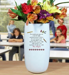 Personalized Ceramic Teacher Vase