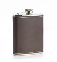 Personalized Leather Flask