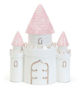 Personalized Pink Dream Castle Piggy Bank