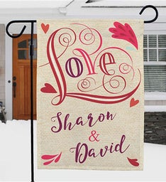 Personalized Valentines Day Dcor Garden Flag