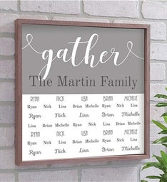 Personalized Gather Wood Pallet Sign
