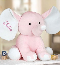 Embroidered Pink Elephant