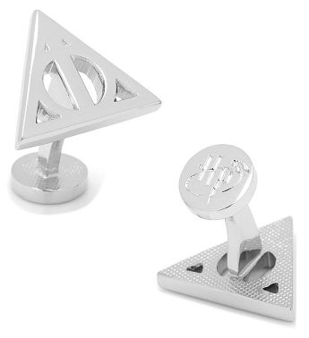 Silver Deathly Hallows Cufflinks